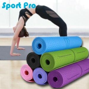 TPE Yoga Mat with Position Line Non Slip Carpet Mat Esterilla Yoga Tapete Pad Lengthen Non-slip For Beginner Gymnastics Mats