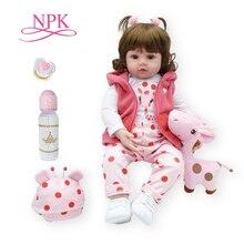 NPK bebe doll Reborn Princess Girl Doll Soft Silicone Vinyl Reborn Baby Dolls Lifelike Toddler Baby Children Birthday Gift