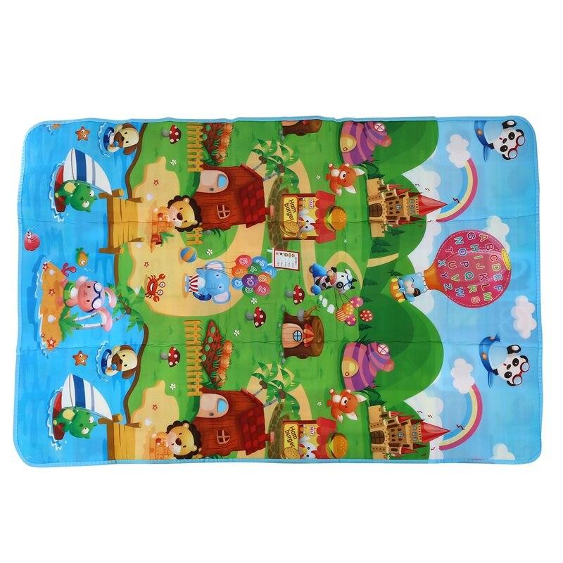 Baby Play Mat 180x120x0.5cm Crawling Mat Double Surface Baby Carpet Rug Animal Car+Dinosaur Developing Mat For Children Game Pad