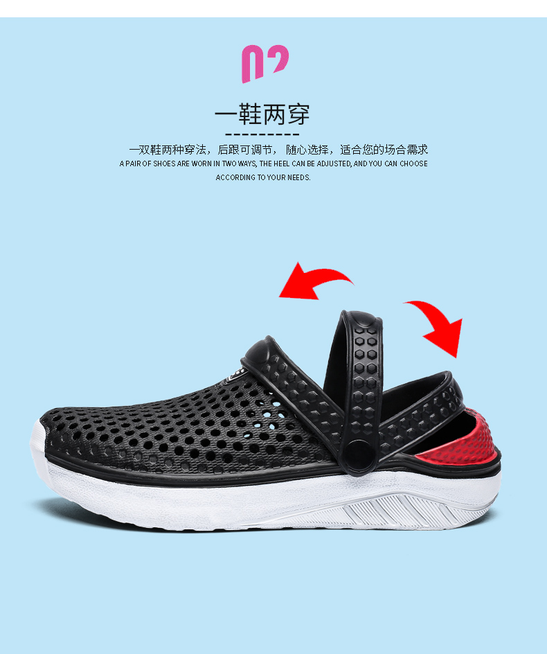 H6dc12472405a47f9925f0720b0ee3bb6z - Summer Beach Sandals Lightweight Lovers Garden Shoes Non-slip Water Shoes Men White Slippers Clogs For Women Size 36-45