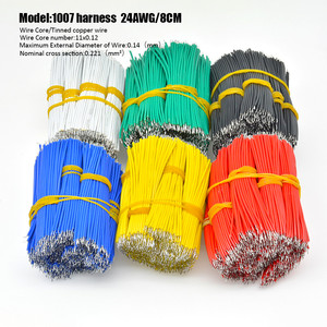 100Pcs/lot 24AWG 8cm Tin-Plated Breadboard PCB Solder Cable Fly Jumper Wire Tin Conductor Wires 1007-24AWG Connector Wire