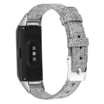 for Samsung Galaxy Fit SM-R370 Watch Canvas Nylon Strap Bracelet Replacement Wristband