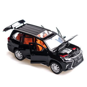 1:32 lexus LX570 alloy pull back car model diecast metal toy vehicles with sound light 6 open doors for kids gift 1 36 benz e63 amg alloy pull back car model diecast metal toy vehicles 2 open doors for kids gift free shipping