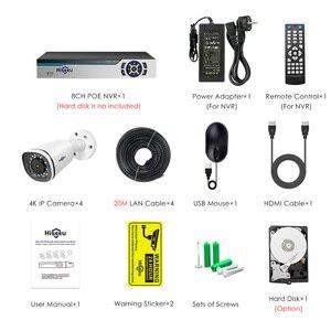 Image 5 - كاميرا Hiseeu 4K IP POE NVR 8CH نظام H.265 CCTV طقم الأمن 8MP في الهواء الطلق مانعة لتسرب الماء P2P 1T HDD تطبيق الرؤية عن بعد ويندوز