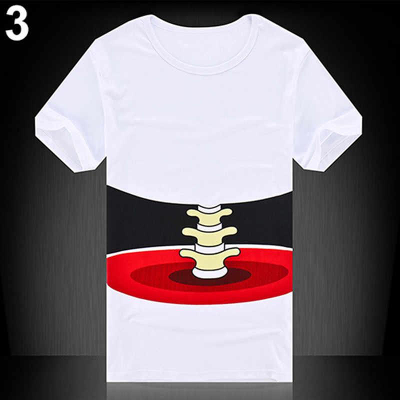 Camiseta para hombre novedad 3D gran mano hueso estampado manga corta Camiseta moda verano superior Casual masculino Dropshipping disfraz de Halloween