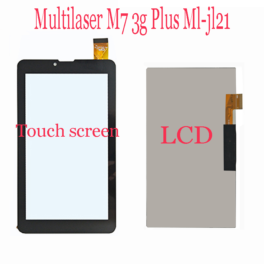 "Original 7"" Multilaser M7 3g Plus Ml-jl21 Tablet LCD Display + Touch Screen Touch Panel Digitizer Glass Sensor"