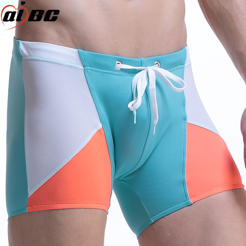 AIBC Genuine Product MEN'S Underwear Boxers Swimming Trunks Ban Guang Bu Pool Sports Casual Fitness Moderate Elasticity