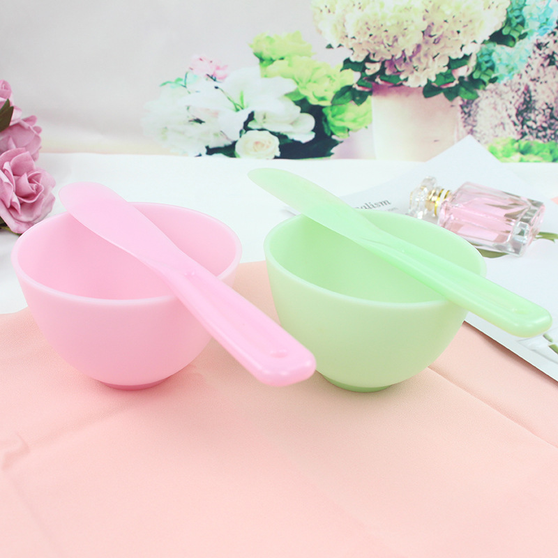 DIY Facial Mask Kit Face Mask Silicone Bowl Mixing PET Stick Spoon Spatula Kit Cosmetic Beauty Tool Set
