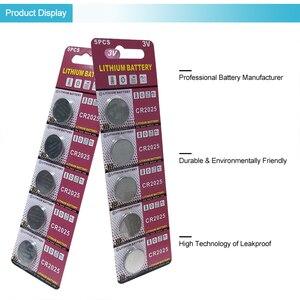 Image 2 - PUJIMAX CR2025 5 pz/pacco calcolatrice batteria del tasto della vigilanza DL2025 BR2025 telecomando 3V batteria a Bottone al litio usa e getta
