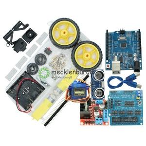Image 1 - New Avoidance tracking Motor Smart Robot Car Chassis Kit Speed Encoder Battery Box 2WD Ultrasonic module For Arduino kit