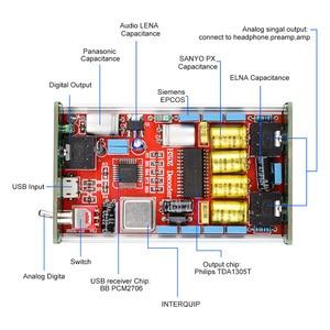 Image 5 - AIYIMA Mini Headphone Amplifier PCM2706 HIFI Audio Decoder DAC USB Sound Card TDA1305DAC Headphone Amplifiers Amplificador DIY