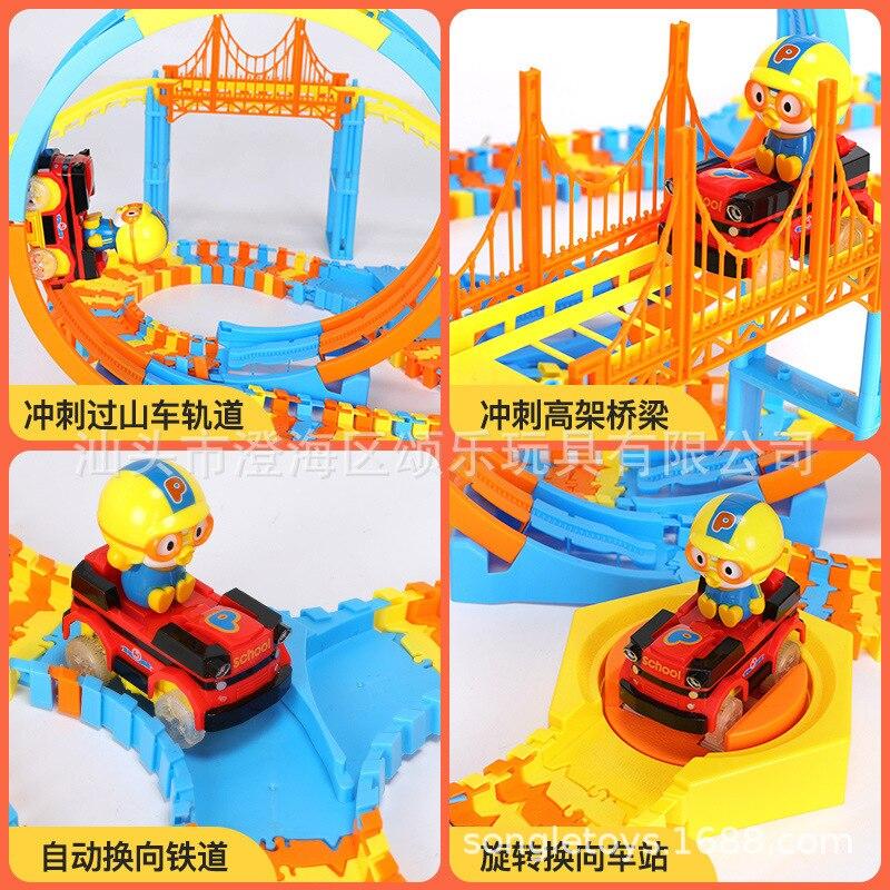 Véritable autorisé Lele petit Train caméra piste voiture Locomotive électrique petit pingouin caméra piste paradis jouet pour enfants