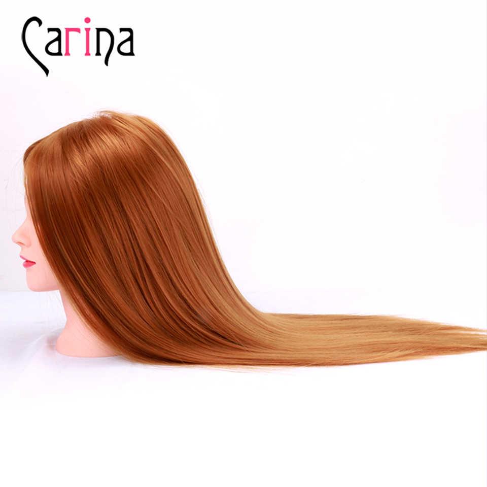 55cm Synthetische Haar Mannequin Kopf Mit Haar Ausbildung Kopf Für Frisuren Kosmetik Friseur Puppen Kopf Friseur Dummy