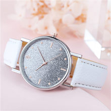 Women Warct Bracele Watch Luxury Watches Quartz Watch Stainless Steel Dial Casual Starry sky Frosted dial Reloj de mujer Y1(China)