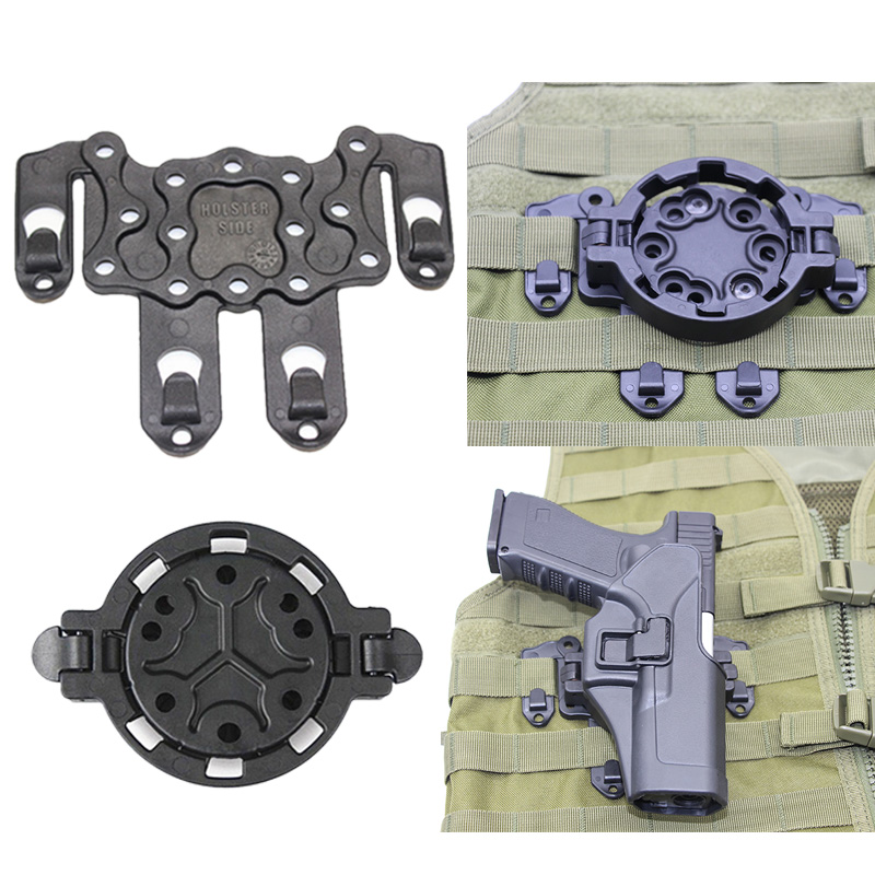 Tactical Quick Release Molle CQC Strike Adapter Holster Platform System 360 Angles Holster Adapter For Rifle Pistol Airsoft Case