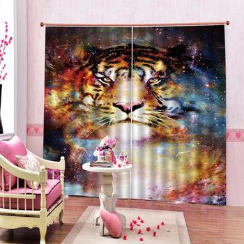 Tiger oil painting curtain Curtains For Living Room Bedroom Decoration Blackout Curtains