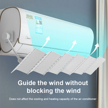 Air Conditioner Windshield Foldable Adjustable Anti-straight Blowing Air Outlet Windshield Universal
