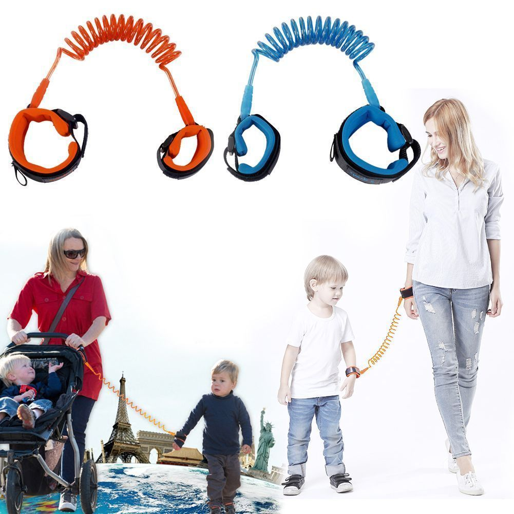 1Pc 2m Anti Lost Wrist Link Children Leash Safety Harness for Baby Safety Blue
