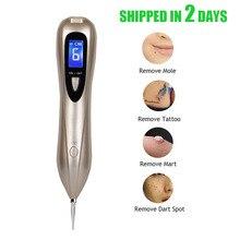 Nieuwste Laser Plasma Pen Mol Verwijdering Dark Spot Remover Lcd Huidverzorging Punt Pen Huid Wart Tag Tattoo Removal Tool schoonheidsverzorging