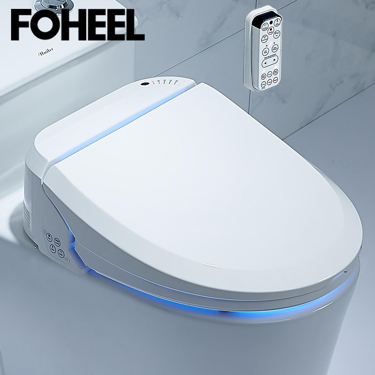 FOHEEL Smart Toilet Seat Electric Bidet Cover Intelligent Bidet Heat Clean Dry Massage Intelligent Toilet Seat