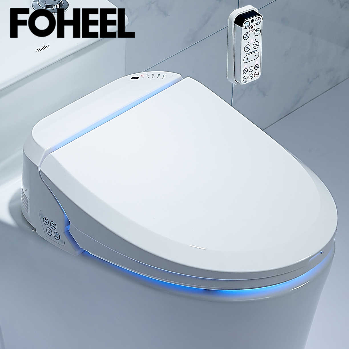 Foheel Smart Toilet Kursi Listrik Kloset Duduk Cover Cerdas Kloset Duduk Panas Bersih Kering Pijat Cerdas Toilet Kursi