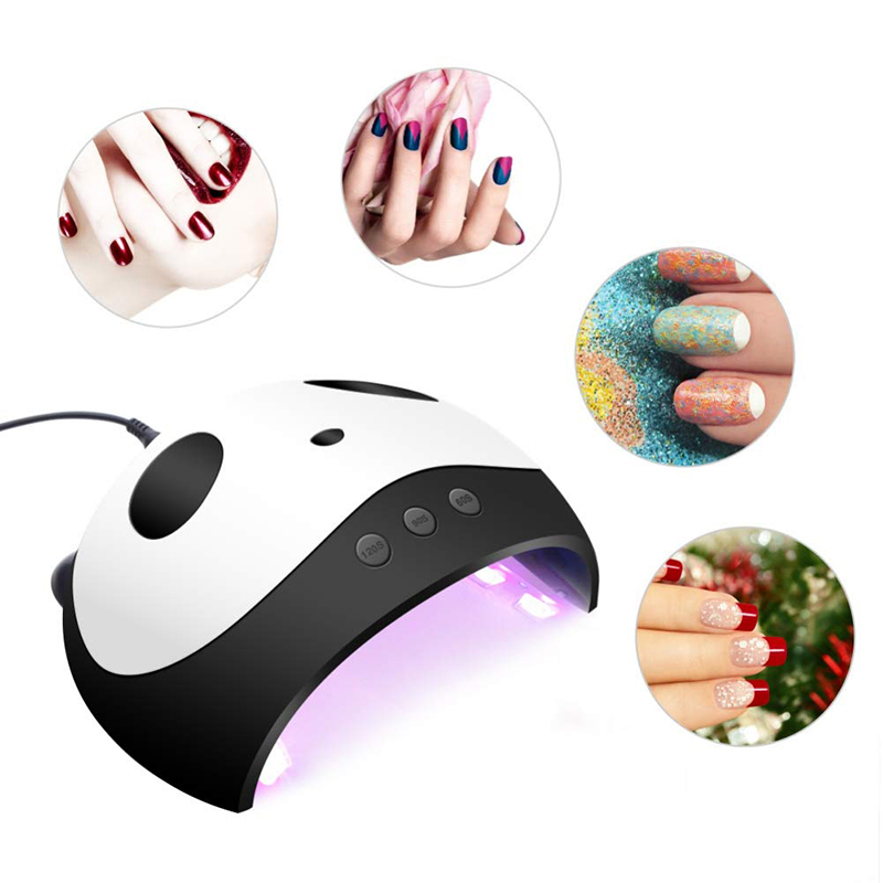 36W UV LED Lamp Gel Nail Polish Curing Cute Panda Shap Nail Dryer Manicure Pedicure Machine With Sensor USB Charge Nail Art Tool in Nail Dryers from Beauty Health