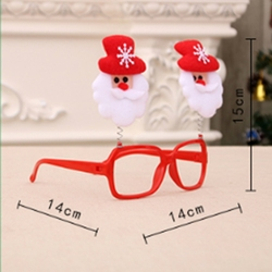 1PC Creative Christmas Items Party Glasses Frame Decoration Christmas Articles New Year Xmas Decoration Glasses Gift for Kids 4