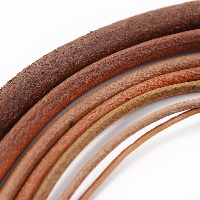 5 м/лот 15 2 25 3 4 мм круглый шнур из натуральной коровьей