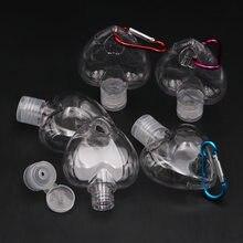 Bouteilles transparentes en forme de cœur, 5, pièces/ensemble ou 50ML, pour voyage, conteneurs de voyage, livraison directe