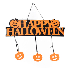 Creative Skull Bones Hanging Non-Woven Door Flag With Ghostly Pumpkins Spiders 1pc Decorative Spider Curtain Props