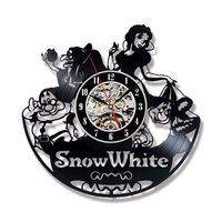 Cute Cartoon Wall Clock Modern Design Decorative Girls Room Snow Princesse Theme Clocks Wall Watch Home Decor Silent