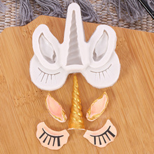Silicone Mold West Point Mousse Plug-in Ears eyes horns Unicorn