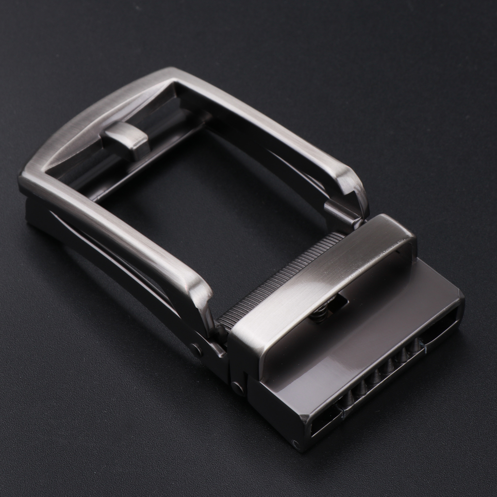 Belt Buckle Automatic Buckle Replacement For 35mm Belt Top Quality Ratchet Black Gray Man Belt Waistband Repair Accessory Buckle