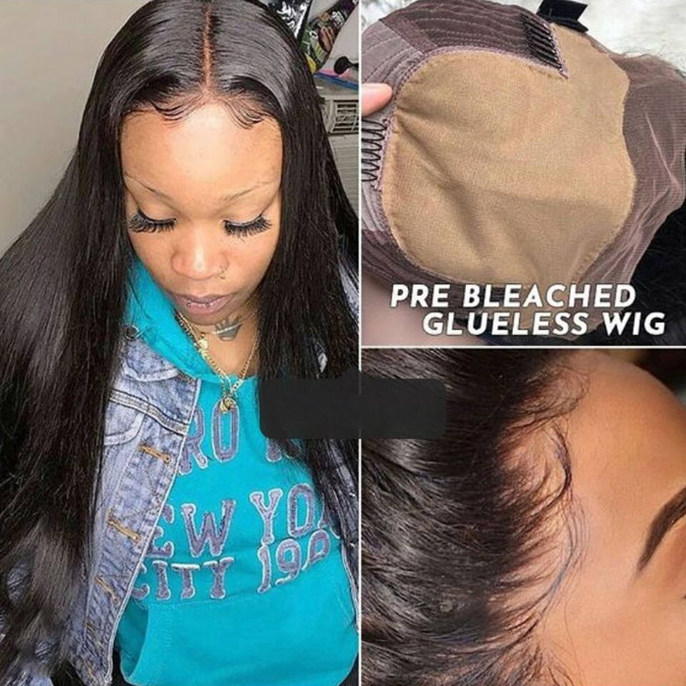 Brazilian Straight Human Hair Wigs Fake Scalp Wig 8-28 Inch 13x6 Lace Front Wig Remy Hair HD Lace Frontal Wigs For Women
