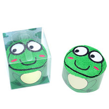 Children's Cute Towel with Frog and Dragon Knitted Cotton Handdoeken Toalhas De Banho Handtuch for Face Bath Stuff Eating Cake(China)
