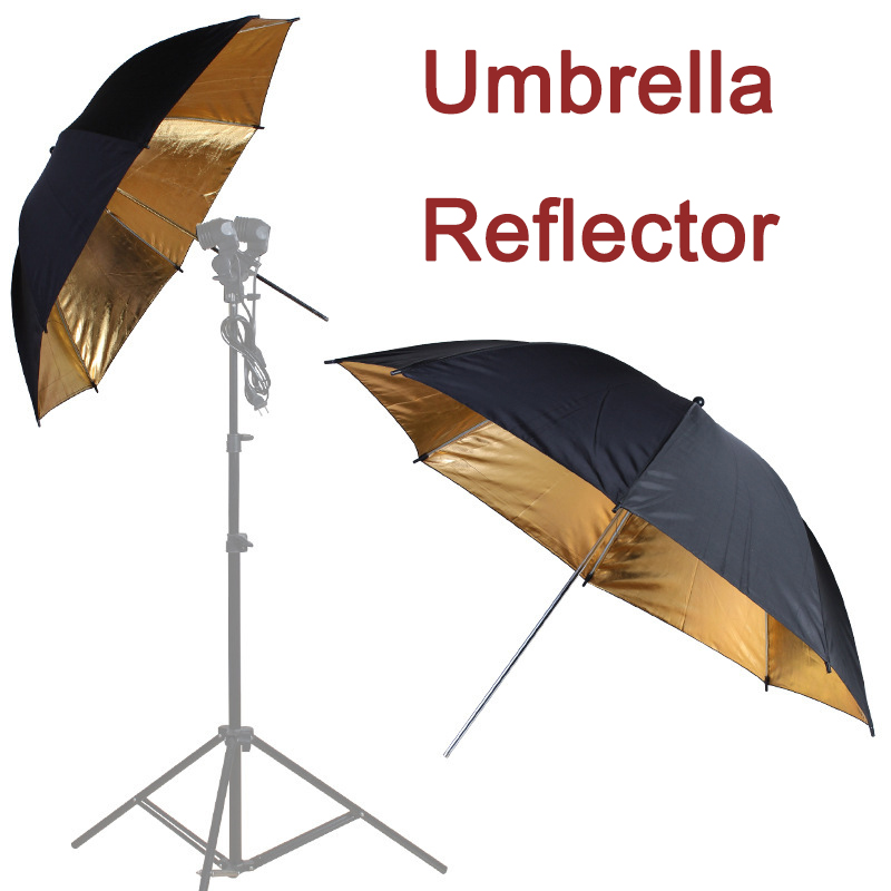 "85cm 33""in Help Flash Photo Umbrella Gold Softbox Studio Reflector Collapsible Camera Reflector Fresh Light Photography Umbrella