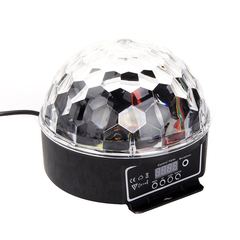 ABUI-LED RGB Crystal Magic Ball Effect Light DMX Disco Dj Stage Light For KTV Club Pub Bar Wedding Show Voice-activated