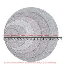 1 - 7 zoll Weißen Trockenen Schleifen Discs 25-180mm Aluminium Oxid Haken Schleife Schleifpapier 60-1000 grit Für Holzbearbeitung Autolack Polieren