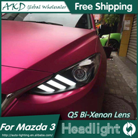 AKD Car Styling for Mazda 3 Headlights 2014 2016 New Mazda3 Axela LED Headlight DRL Bi Xenon Lens High Low Beam Parking Fog Lamp