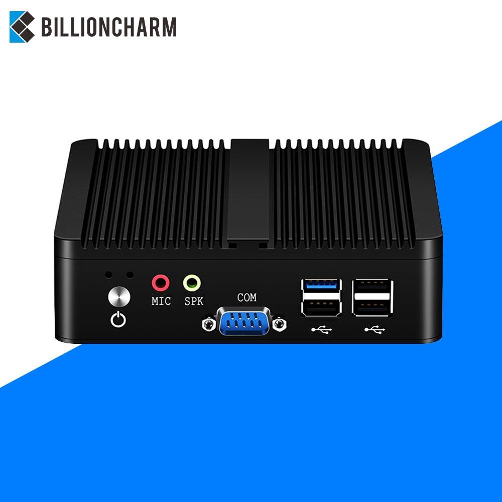 Quad-core Mini PC Intel Pentium J2900 Windows 10 7 Linux WiFi 2*Gigabit Ethernet 2*RS232 4*USB Fanless Industrial Micro Computer