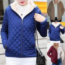2019 New Autumn Parkas basic jackets Female Women Winter plus velvet hooded Coat