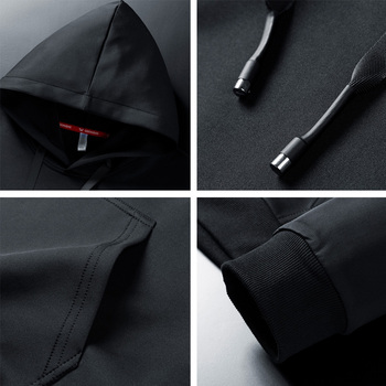 Men Hoodies 5XL 6XL 7XL 8XL Hooded Sweatshirts Men Hood Streetwear Male Black 2020 Spring Autumn Casual Solid Color Long Sleeve 6