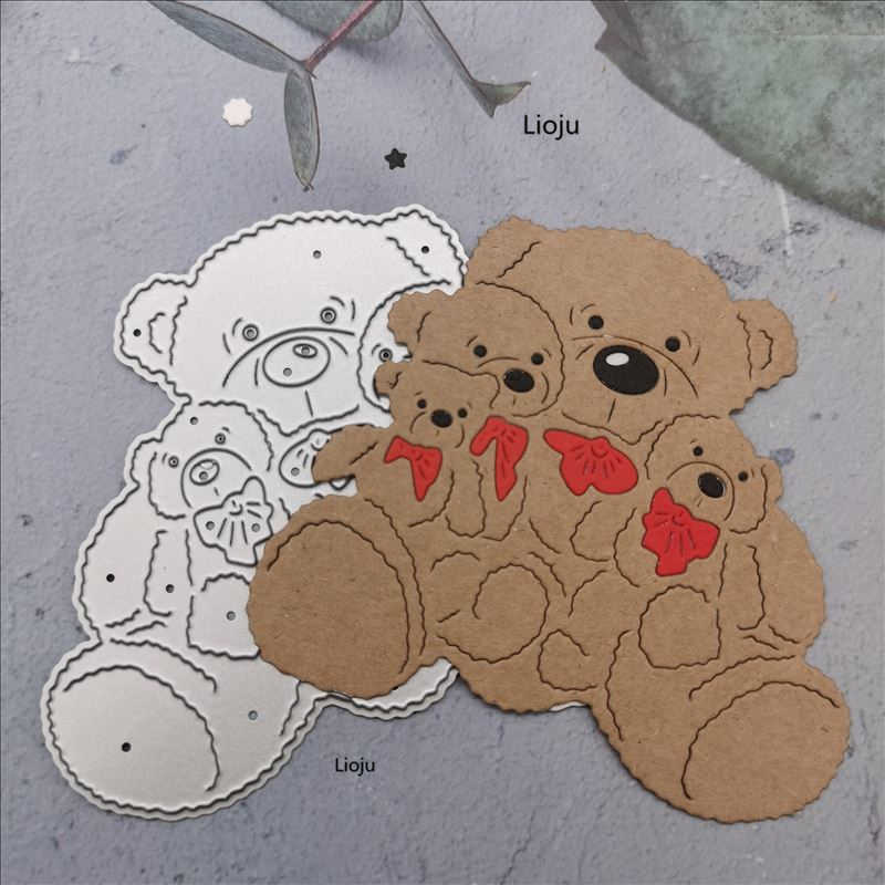 New ~ Teddy Bear and Moon ~ Scrapbook Paper Craft Punch