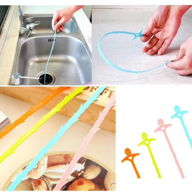1 adet plastik kanca mutfak banyo lavabo boru-drenaj temizleyici boru hattı saç temizleme kaldırma duş tuvalet kanalizasyon takunya 51CM uzun çizgi