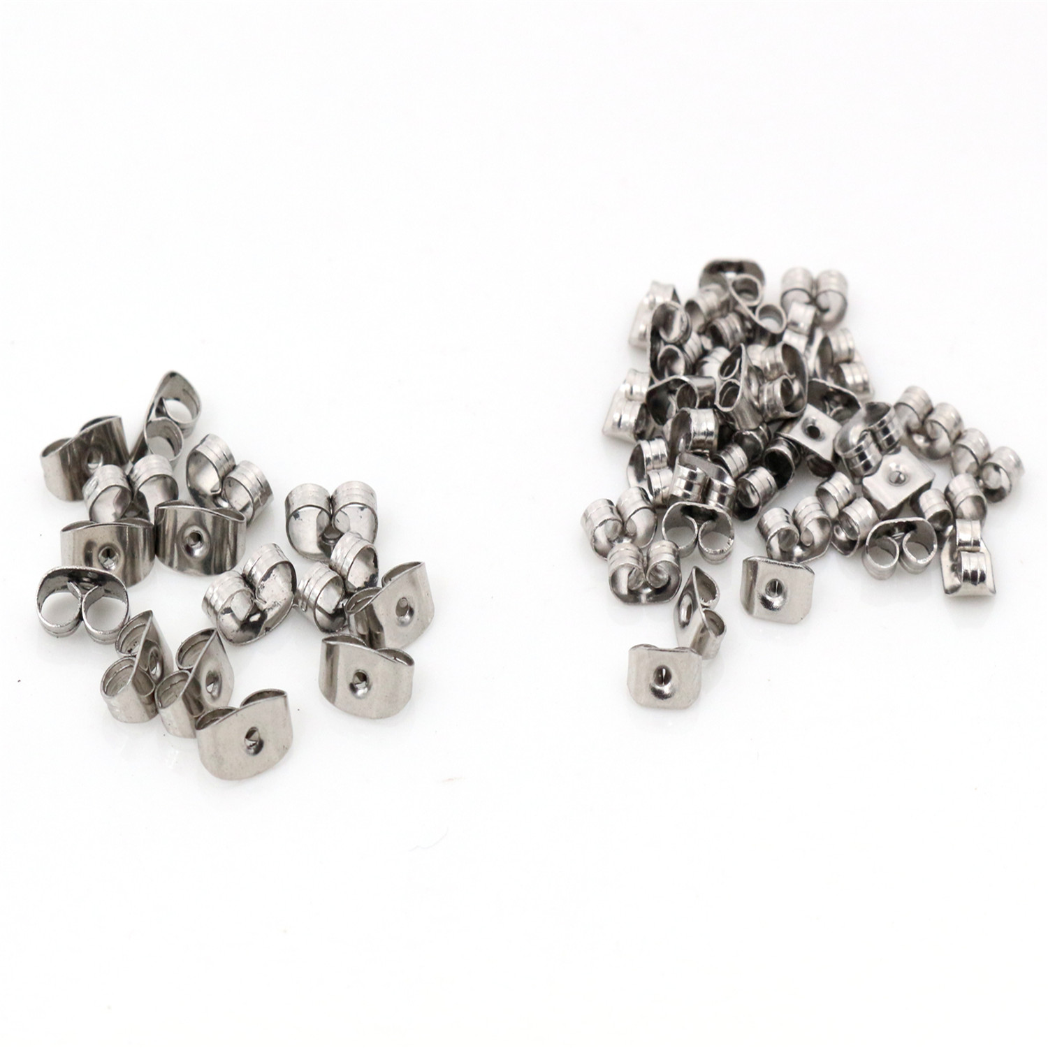 100pcs/Lot High Quality Stainless Steel Earring Back Plug Earring Settings Base Ear Studs Back Earring Stopper Whole Sale