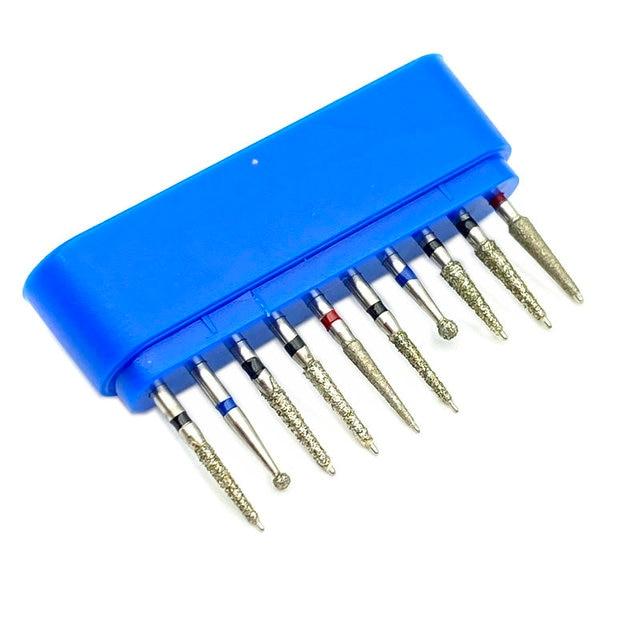 18 Type Choice 10pcs/set Dental Diamond Burs Drill for High Speed Handpiece Dental High Speed Burs Dentist Polish Tool 2