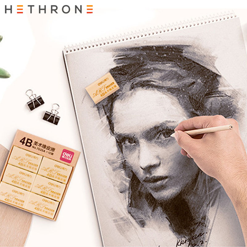 Hethrone 1Pcs Brand 4B Soft Rubber Painting Erasers Durable Flexible Pencil Eraser Precision Pencil Eraser Writing Eraser Statio
