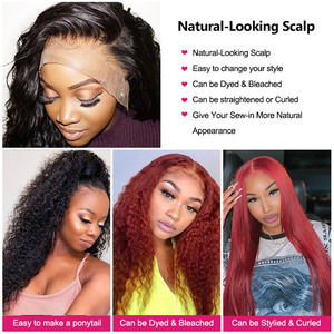 Image 5 - Meetu  Curly Human Hair Wig 8 26 Inch Malaysian 13x4 Lace Front Human Hair Wigs Pre Plucked Lace Closure Wigs 100% Remy Hair Wig