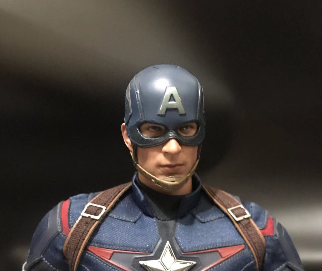 1/6 Scale Battle Edition Captain America Head Sculpt With Neck For 12in Action Figure Collection Toys