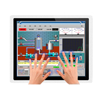 """12"""" 10 15 17 inch Industrial Panel all in one PC mini Computer Capacitive Touch with core i3-3217U RS232 com Windows 7/10 2"""